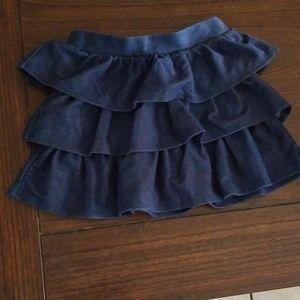 Crazy 8 girls 4T tiered ruffled skirt